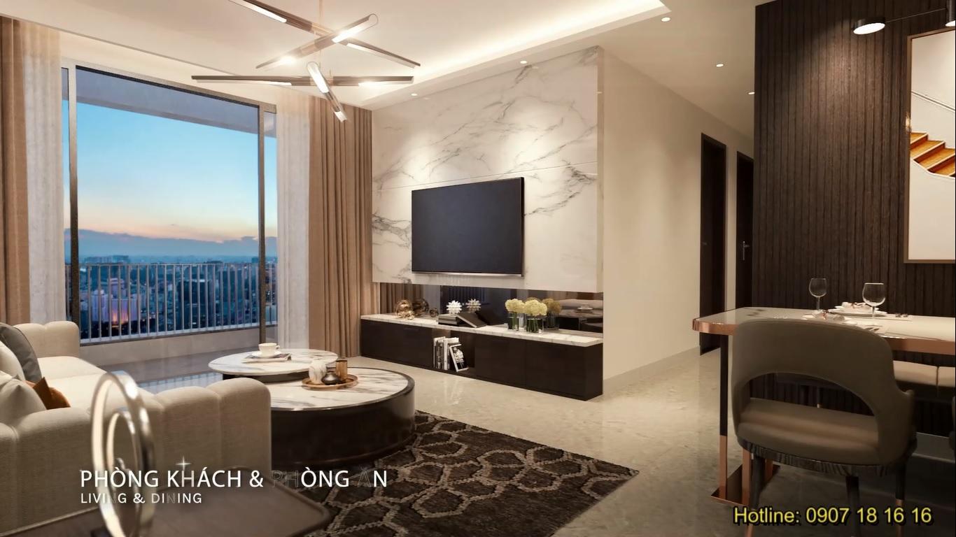 Thiết kế căn hộ Celesta Rise tinh tế & hiện đại.