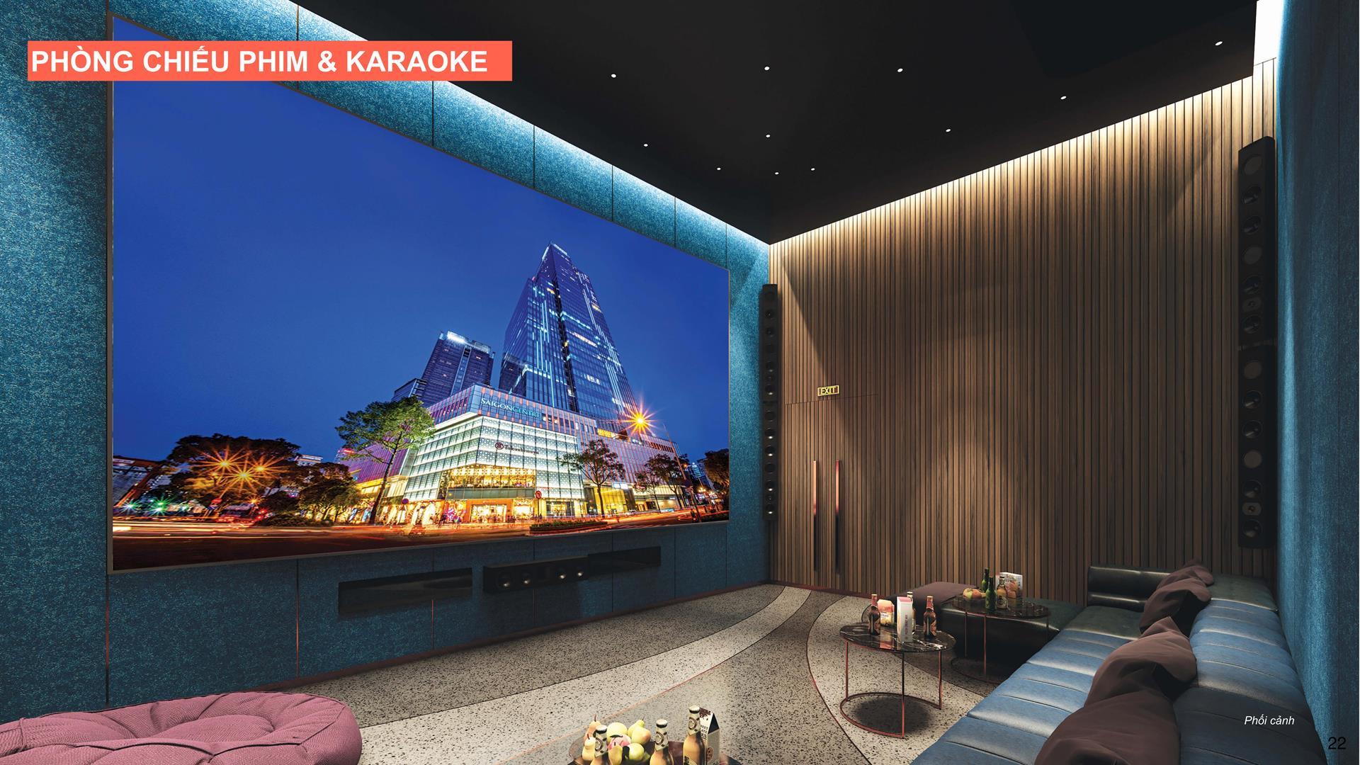Phòng chiếu phim và karaoke căn hộ Celesta Rise