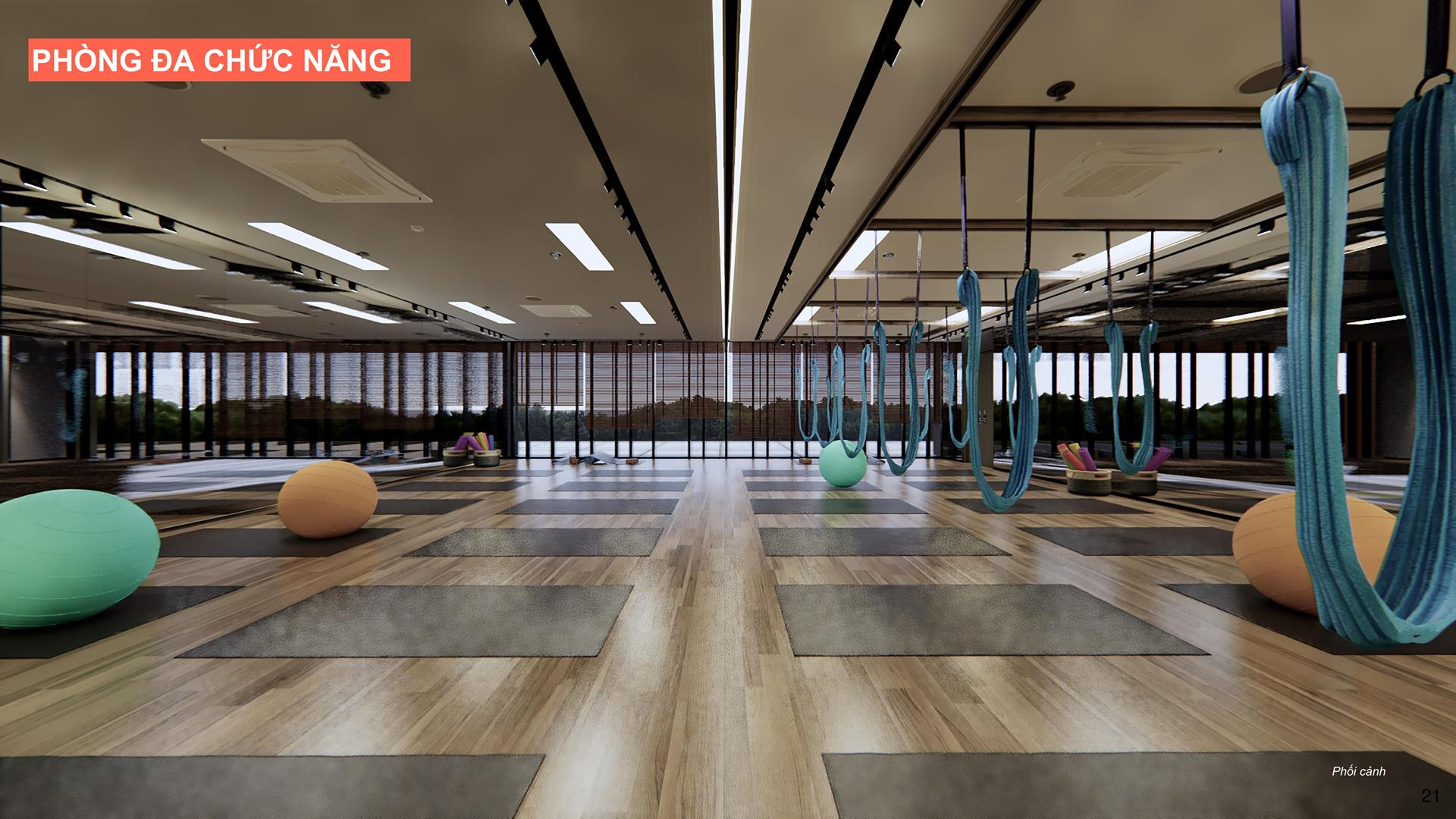 Phòng tập yoga hiện đại tại căn hộ Celesta Rise
